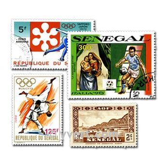 SENEGAL: lote de 100 sellos