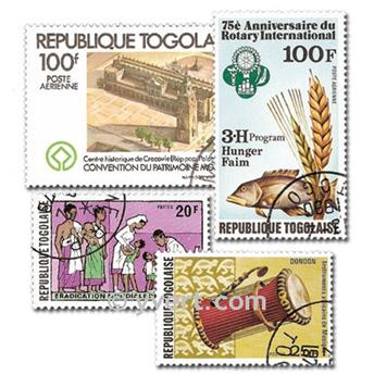 TOGO: envelope of 100 stamps