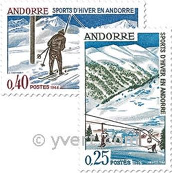 n° 175/176 -  Timbre Andorre Poste