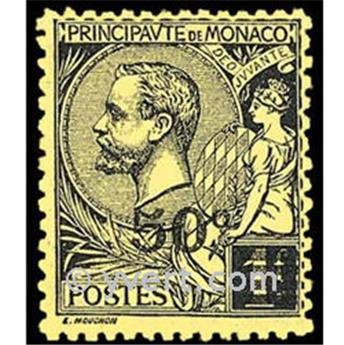 n° 53 -  Timbre Monaco Poste