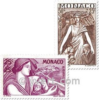 n° 215/224 -  Selo Mónaco Correios