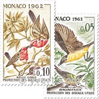 n° 581/590 -  Selo Mónaco Correios