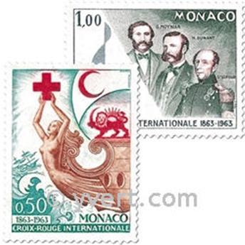n° 607/608 -  Selo Mónaco Correios