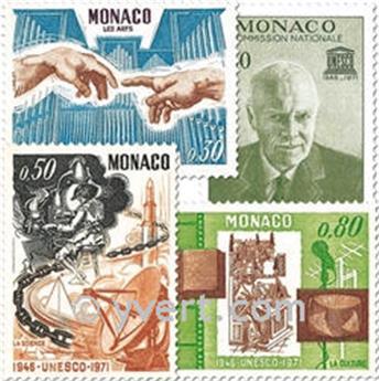 n° 855/858 -  Selo Mónaco Correios
