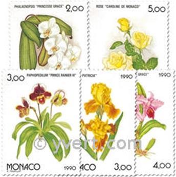n.o 1710/1714 -  Sello Mónaco Correos
