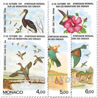 n° 1754/1758 -  Selo Mónaco Correios