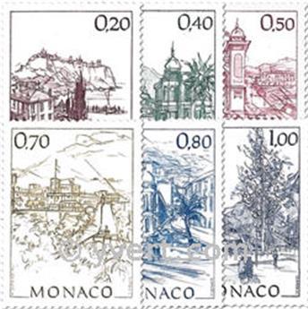 n° 1762/1767 -  Selo Mónaco Correios