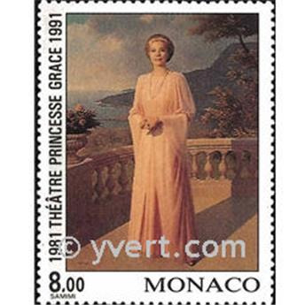 n° 1786 -  Selo Mónaco Correios