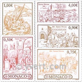 n° 2418/2422 -  Selo Mónaco Correios