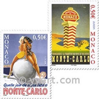 n° 2437/2438 -  Selo Mónaco Correios