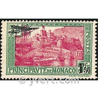 n° 1 -  Selo Mónaco Correio aéreo