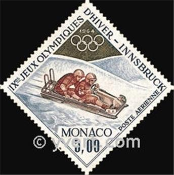 n° 83 -  Selo Mónaco Correio aéreo