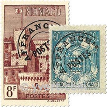 n° 1/10 -  Timbre Monaco Préoblitérés