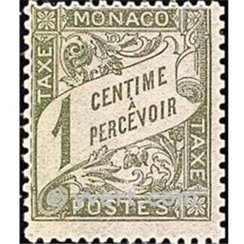 n° 1 -  Timbre Monaco Taxe