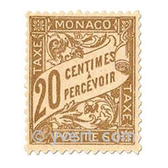 n° 18/26 -  Selo Mónaco Taxa