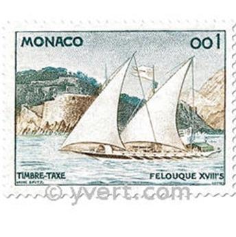 n° 56/62 -  Selo Mónaco Taxa
