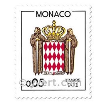 n° 75/82 -  Selo Mónaco Taxa