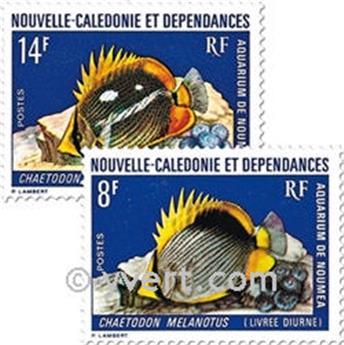 n.o 387/388 -  Sello Nueva Caledonia Correos