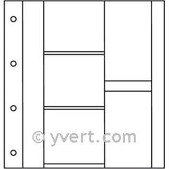 Recambios ÁLBUM TARJETAS POSTALES LUXE: 3 divisiones horizontales + 2 verticales