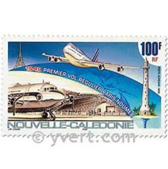 n° 347 -  Selo Nova Caledónia Correio aéreo