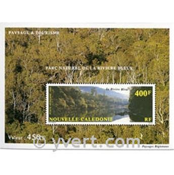 n° 12 -  Selo Nova Caledónia Blocos e folhinhas