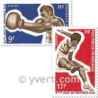 n° 66/69 -  Selo Polinésia Correios