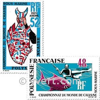 n.o 29 / 30 -  Sello Polinesia Correo aéreo