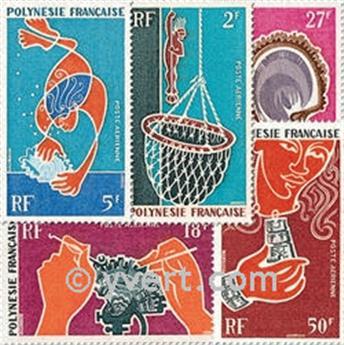 n° 34/38 -  Selo Polinésia Correio aéreo