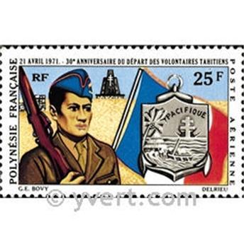 n° 47 -  Selo Polinésia Correio aéreo