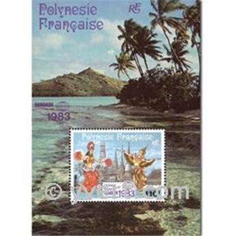 n.o 8 -  Sello Polinesia Bloque y hojitas