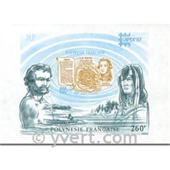 nr. 13 -  Stamp Polynesia Souvenir sheets