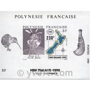 n.o 17 -  Sello Polinesia Bloque y hojitas
