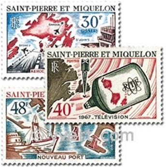 n.o 376/378 -  Sello San Pedro y Miquelón Correos