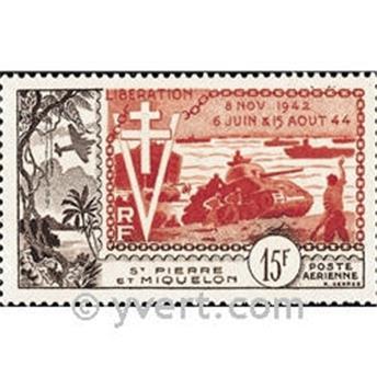 n° 22 -  Timbre Saint-Pierre et Miquelon Poste aérienne