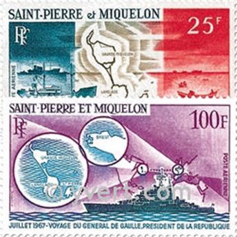 n° 38/39 -  Timbre Saint-Pierre et Miquelon Poste aérienne