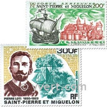 n.o 46 / 47 -  Sello San Pedro y Miquelón Correo aéreo
