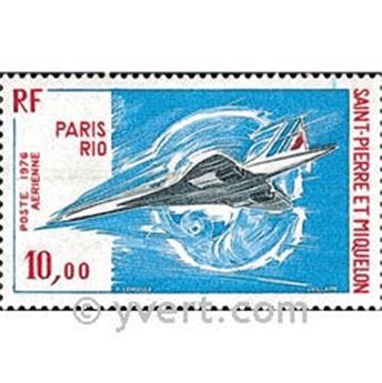 n.o 62 -  Sello San Pedro y Miquelón Correo aéreo