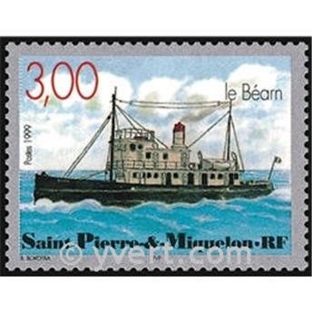 n.o 7 -  Sello San Pedro y Miquelón Bloque y hojitas
