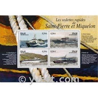 n° 11 -  Timbre Saint-Pierre et Miquelon Bloc et feuillets