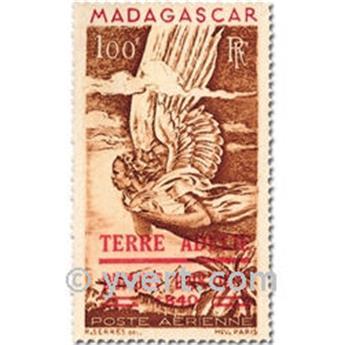n° PA1 -  Selo TAAF Ano completo (1948)
