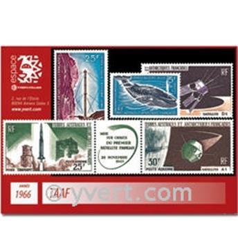 n° 22+PA11A/13 -  Selo TAAF Ano completo (1966)