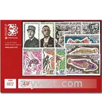 n° 40/47+PA27/28 -  Selo TAAF Ano completo (1972)