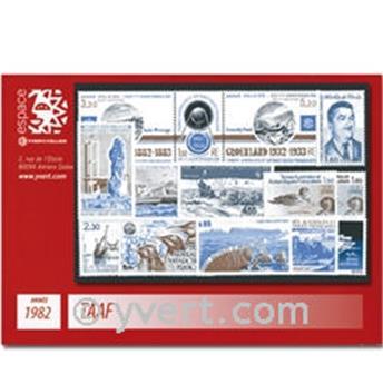 n° 95/100+PA71/78 -  Selo TAAF Ano completo (1982)