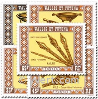 n° 198/202  -  Selo Wallis e Futuna Correios