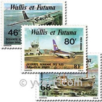 n° 89/91 -  Timbre Wallis et Futuna Poste aérienne