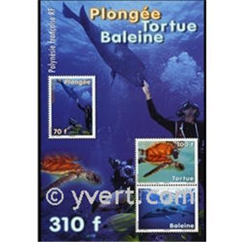 n.o 35 -  Sello Polinesia Bloque y hojitas