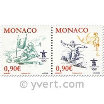 n° 2710/2711 -  Selo Mónaco Correios
