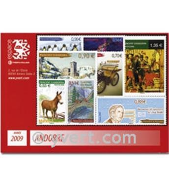 n.o 666/-680 -  Sello Andorra Año completo (2009)