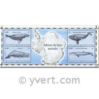 n.o 25 -  Sello Tierras Australes y Antárticas Francesas Bloque y hojitas