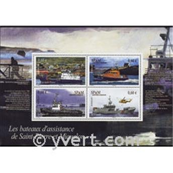 n° 17 -  Timbre Saint-Pierre et Miquelon Bloc et feuillets